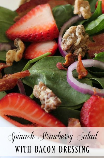 ... Hot Bacon Dressing on Pinterest | Bacon Dressing, Spinach Salad and