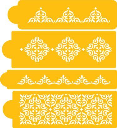 Mexican Tile Stencil Set By Designer Stencils   Jetware