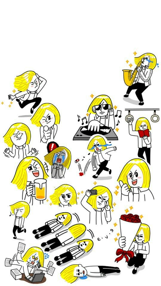 James Line Stickers || jjkseo || I'm just bored so.. :3