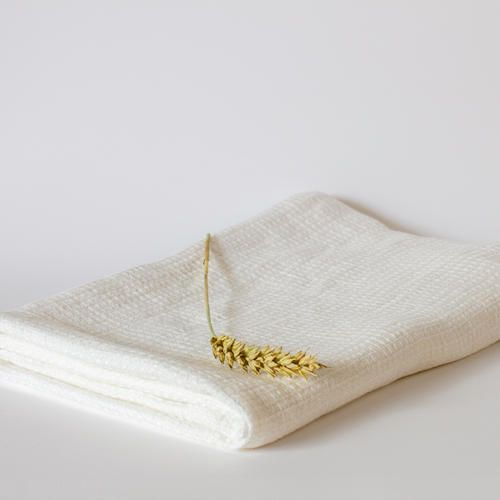 Washed Waffle Optical White Bath Towel. Beautiful present for the best friend.