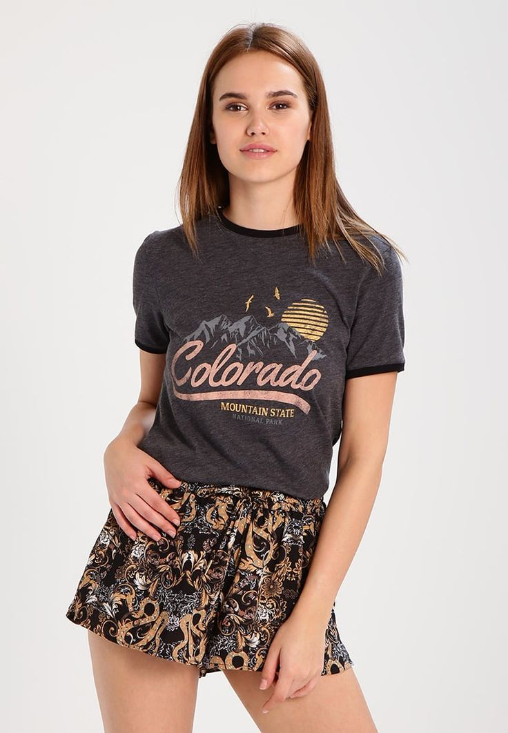 TWINTIP Print T-shirt - dark grey for with free delivery at Zalando