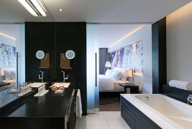 Luxurious bathrooms at Le Meridien Noumea