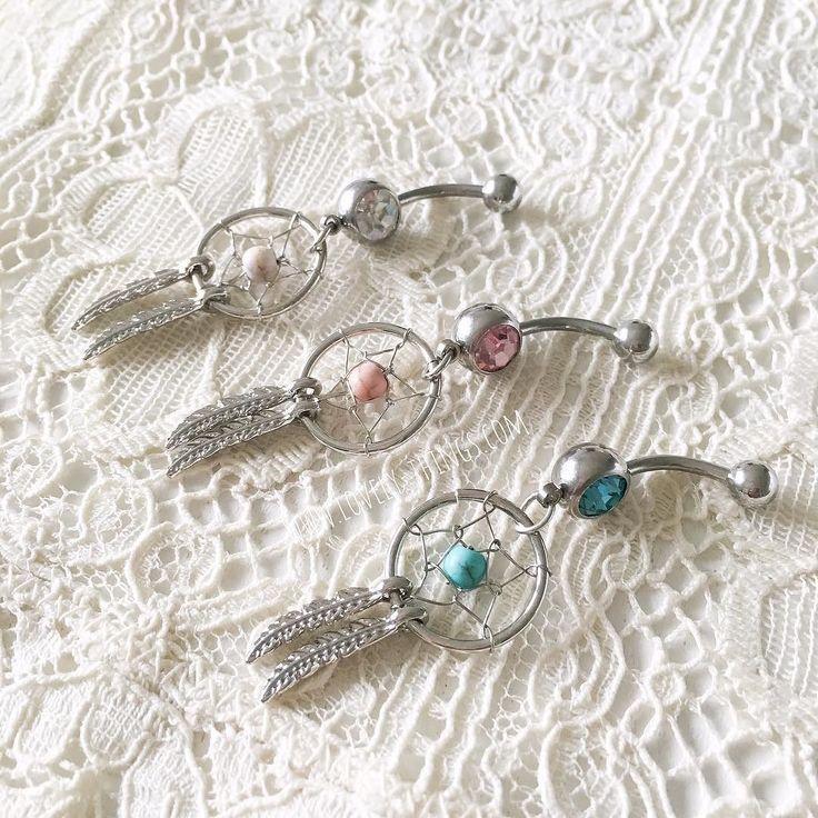 """Neu im Shop!  Bauchnabelpiercings """"Traumfänger""""  // www.lovely-things.com #lovelythingscom #bauchnabelpiercing #traumfänger #lovelythingscom #love #jewelry"""