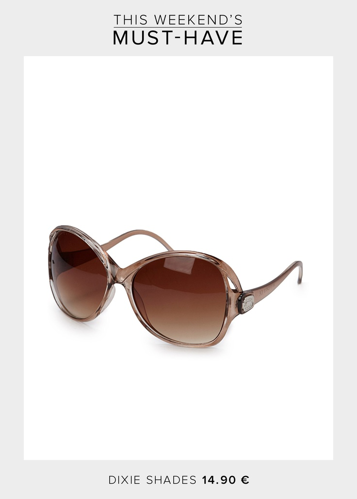 The sun is out so get ready for the weekend with a stylish pair of shades. These desirable sunglasses are from Dixie for only 14.90 € and comes in different colours.   Check out our latest collection of shades here >> http://bit.ly/JeTU2H
