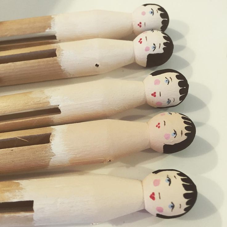 #talesfromtillywood #peglings #wooddolls #tiny #customorder #pegs #gift #christmas