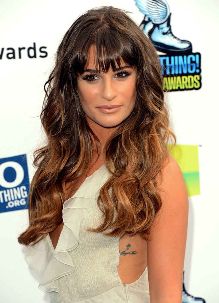 Long Curly Layered Hairstyles with Bangs