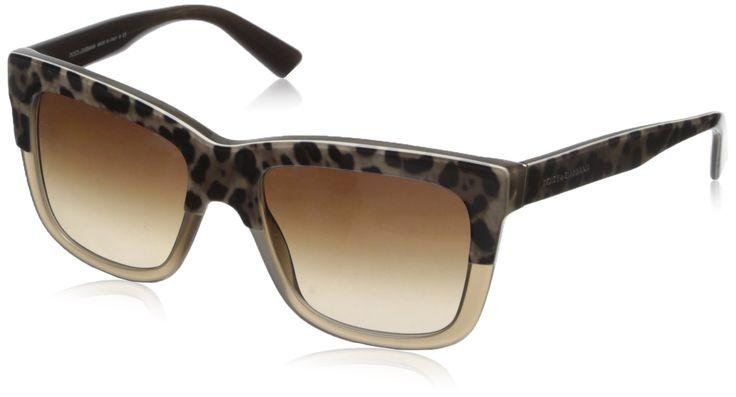 DOLCE & GABBANA Women 4262 Sunglasses, print leo on opal mud: Dolce Gabbana: Amazon.co.uk: Clothing