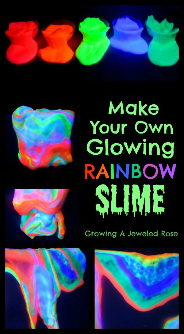༻✿༺ ❤️ ༻✿༺ DIY: Glow In The Dark Rainbow Slime ༻✿༺ ❤️ ༻✿༺