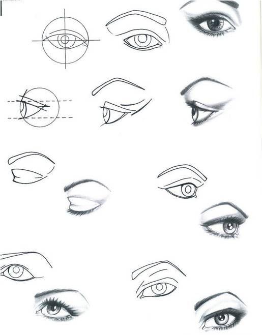 Para reproduzir a expressão de um olhar através da cor e da forma, é preciso estabelecer a perfeita harmonia dos tons cinza, com a aplicação habilidosa do preto. Faça círculos com traços bem finos …