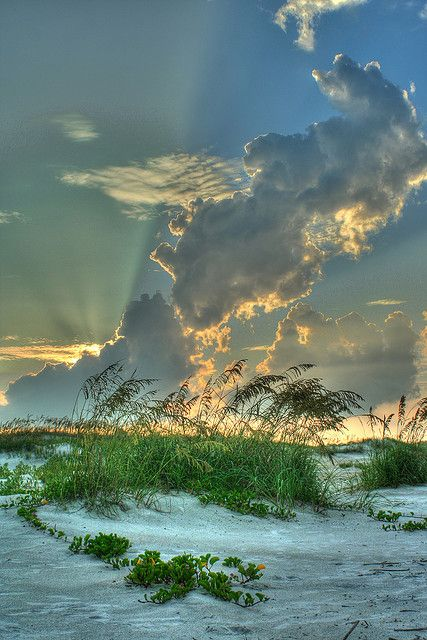 Sunset at Anastasia State Park in St. Augustine