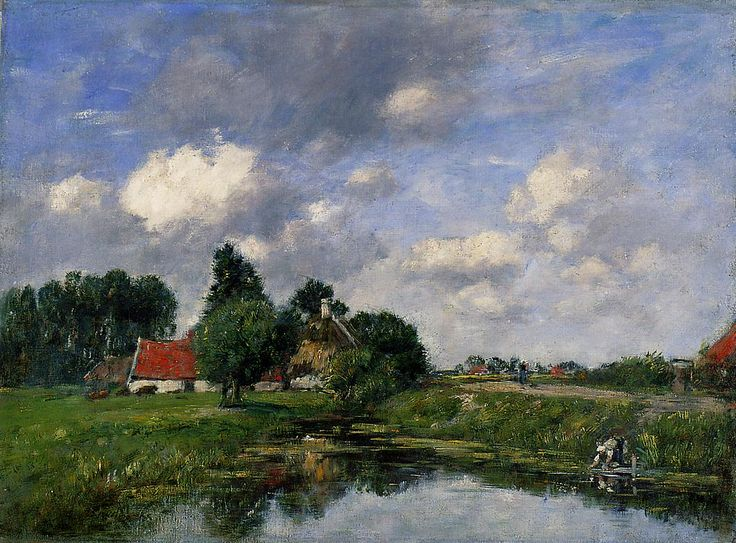 River near Dunkirk - Eugene Boudin