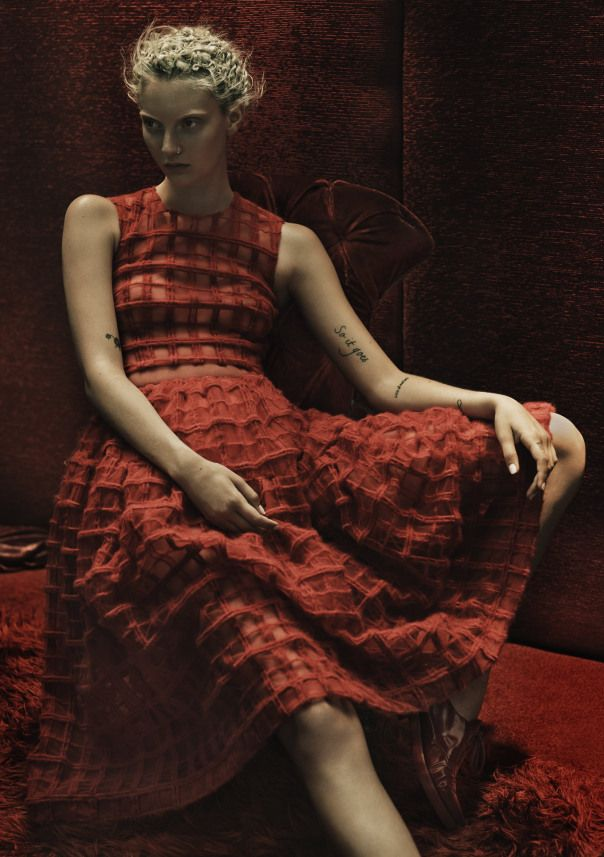 Rory Payne Brilliantly Delivers Codie Young As The Lady In Red For Exit Magazine #11 Fall/Winter 2014-2015