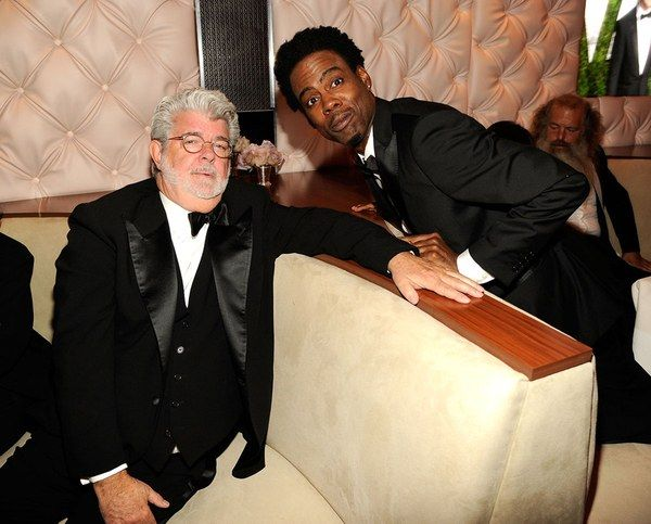 George Lucas and Chris Rock. By Getty/VF.