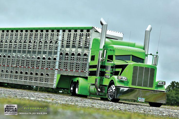 Pair of champs, take two: Dan Brubaker's 2014 389 glider and Wilson trailer | Overdrive - Owner Operators Trucking Magazine