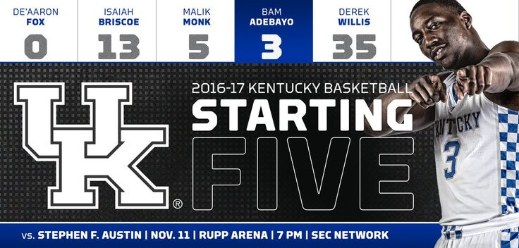 First starting lineup of the season. It's a good one. #SFAvsUK