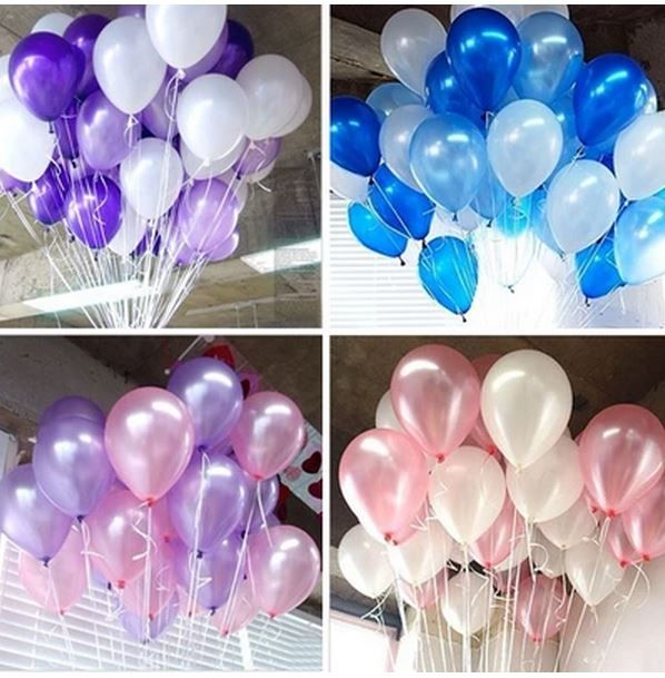 Helium Balloons Bouquet In Assorted Colour Shary Fontany
