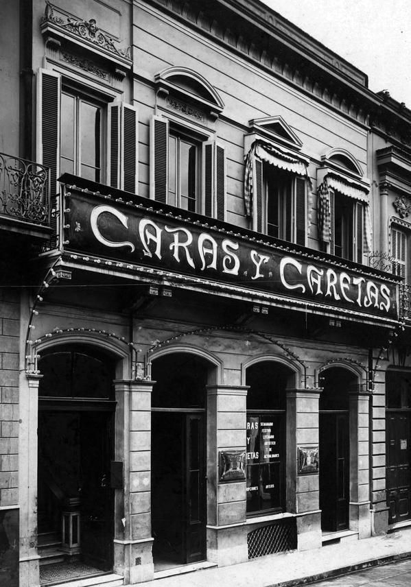 Edificio de la redacción de la revista 'Caras y Caretas', calle Bolívar nº 500, BsAs, Argentina (1935)  / AGN