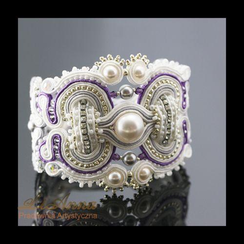 377/378 sutasz soutache kolczyki ♥ biżuteria ślubna