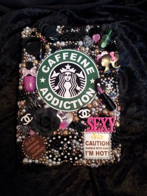 Starbucks Coffee Caffeine Addiction Make Up Barbie Handmade Logo Ipad Mini Case Homemade