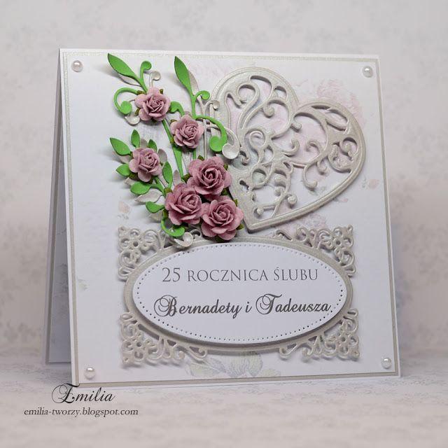 25-lecie ślubu/Kartka na rocznicę ślubu/Wedding anniversary card