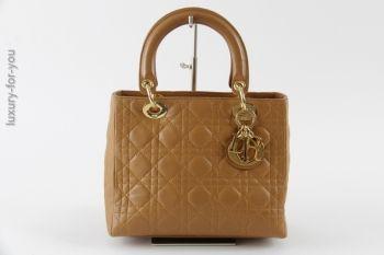 Christian Dior *Lady Dior* aus Leder in Caramel