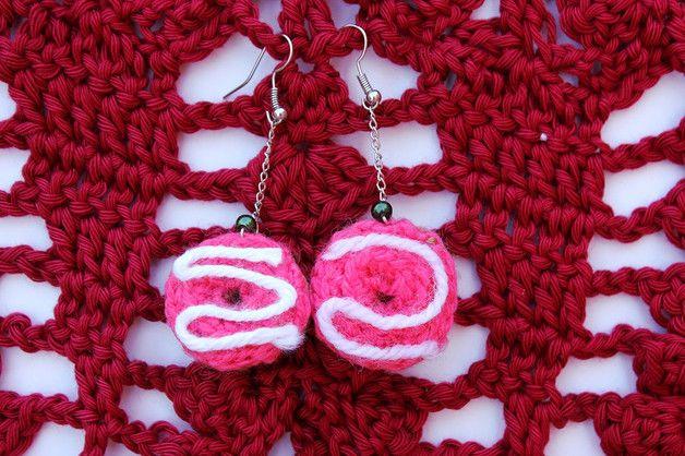 Kawaii Earrings – Strawberry donut earrings - crochet – a unique product by…