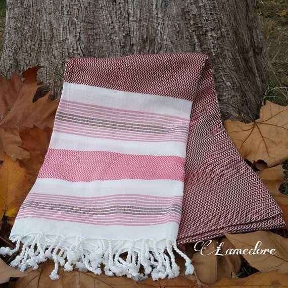 Bamboo Peshtemal towel Traditional Turkish Peshtemal by LAMEDORE