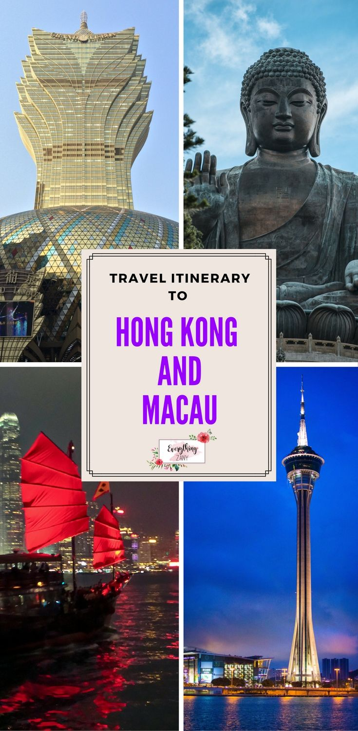 #hongkong #macau #travel | DIY Travel Itinerary to Hong Kong and Macau (SAR, China) | Hong Kong and Macau are one of the most visited destinations in Southeast Asia. Hong Kong and Macau is known for its bustling streets and vibrant lights. Hong Kong and Macau both have a colourful colonial history.