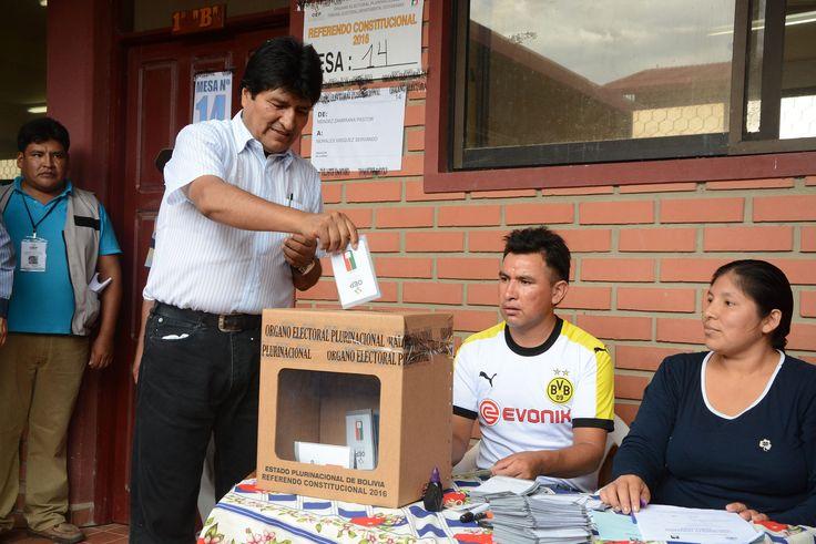 Evo Morales espera una alta participación en el referéndum