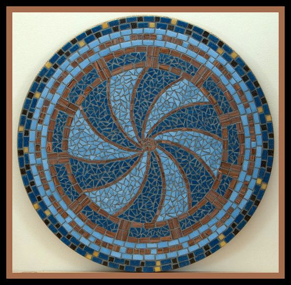 Hey, I found this really awesome Etsy listing at https://www.etsy.com/listing/214139374/blue-gold-mandala-glass-mosaic-table-top
