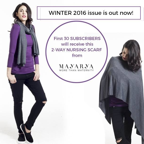 Subscribe for Winter 2016 today and be one of the lucky 30 to get this gorgeous scarf from Mayarya.   Check out our subscriptions page:  http://www.nurtureparentingmagazine.com.au/subscribe/