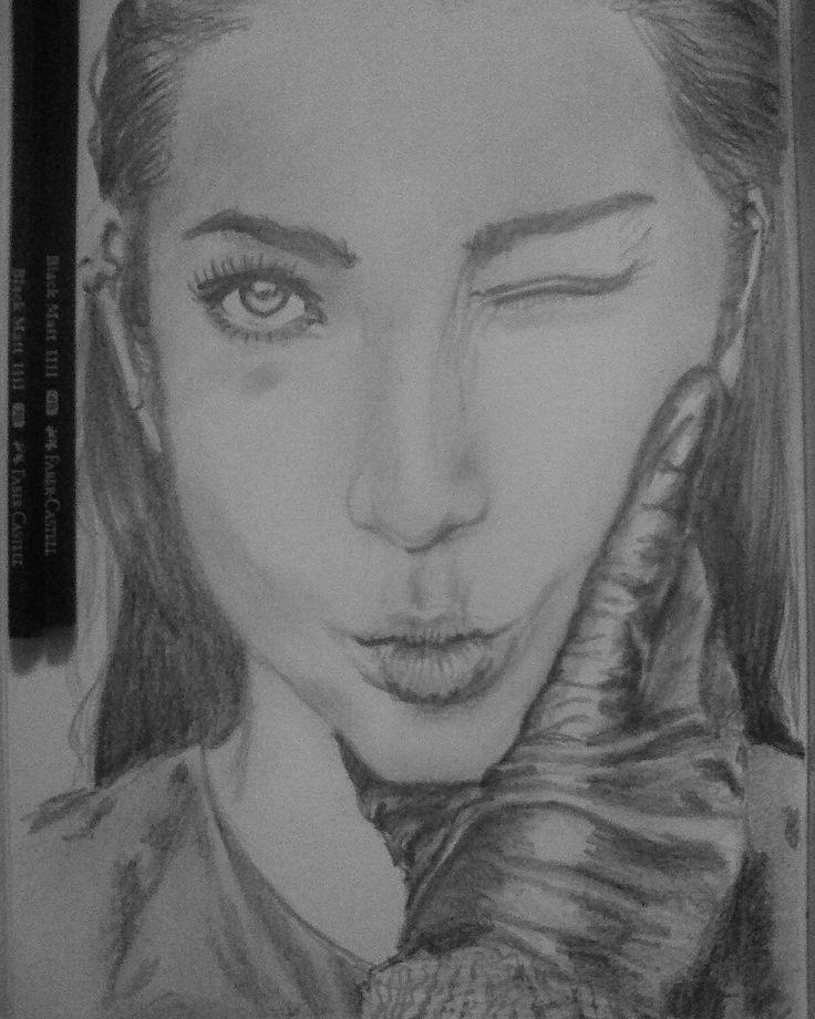 Li Bingbing pencil drawing portrait