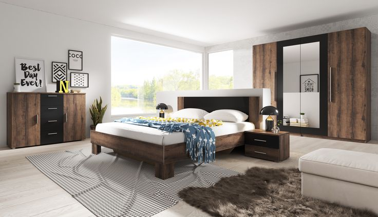 Set of bedroom furniture Vera II is a proposal into the elegant room. Certainly you will like the accessible rich colour offer.SALE%%%% Zestaw mebli sypialnianych Vera II to propozycja do eleganckiego pomieszczenia. Dostępna bogata oferta kolorystyczna z pewnością przypadnie Państwu do gustu. PROMOCJA%%% #mebledosypialni #bedroom #design #bed #łóżko #łoże #meblesypialniane #helvetia #sale #mirjan24