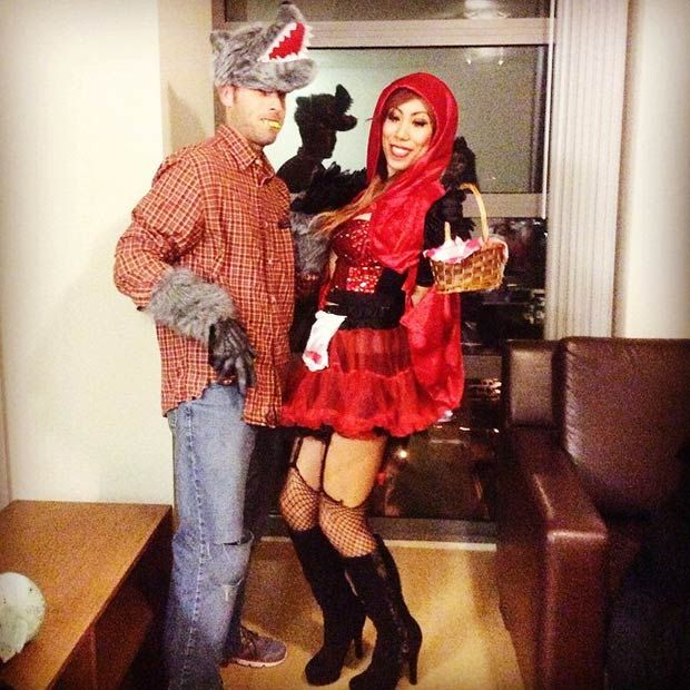 Little Red Riding Hood & the Big Bad Wolf Couples Costume