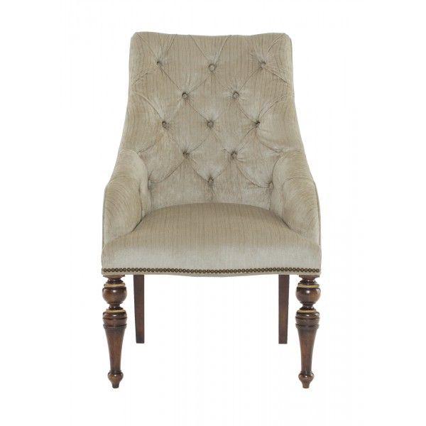 Villa medici tufted upholstered chair bernhardt star for Furniture 77092