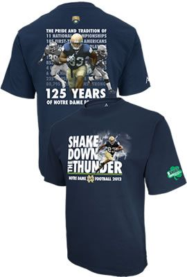 Show your University of Notre Dame spirit and support for the students and the football team with ''The Shirt'' 2012!
