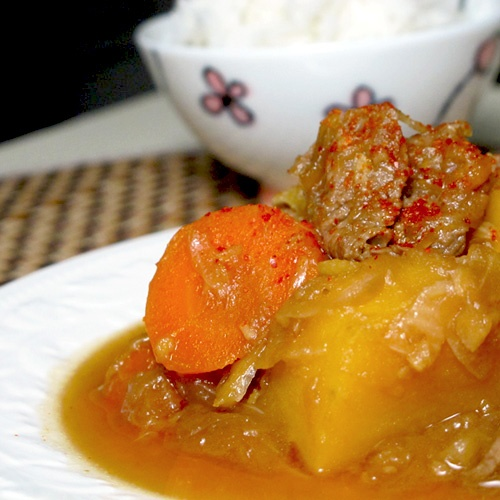 Recipe: Nikujaga (Japanese meat and potato stew)~Pickled Plum