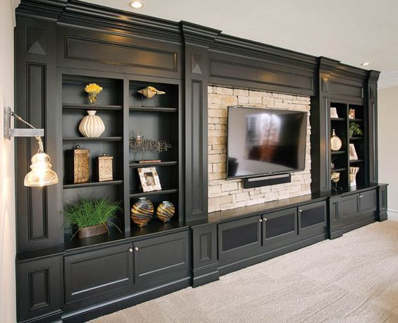 Looking for ideas to build your own entertainment center that suits your tastes …