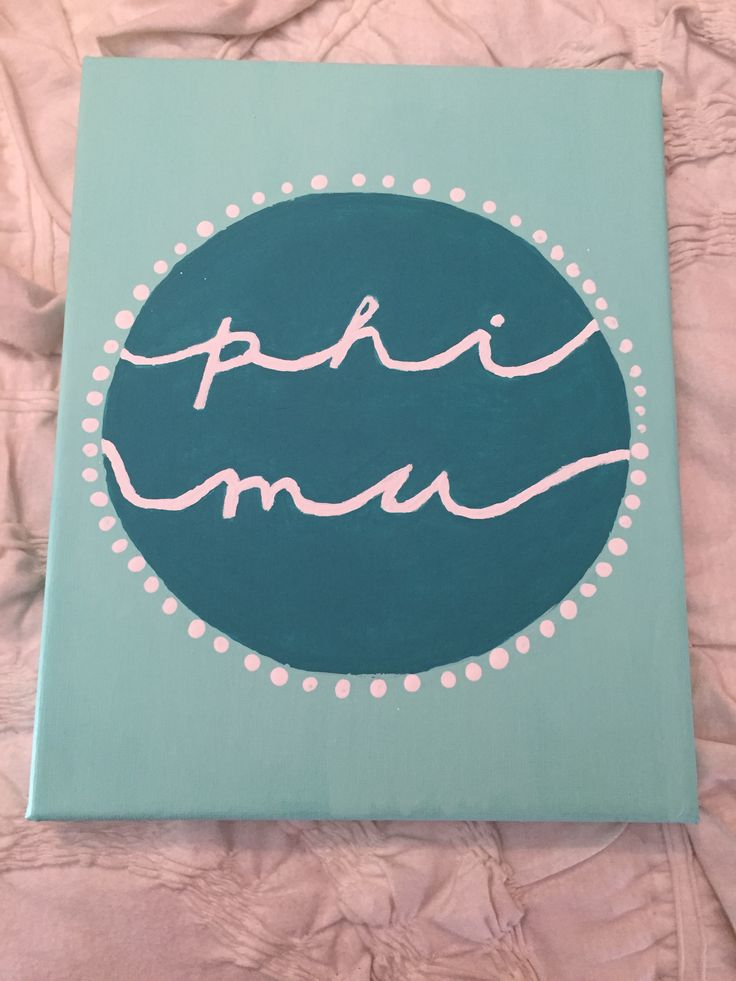 Phi Mu Canvas  #phimu #canvas #sorority