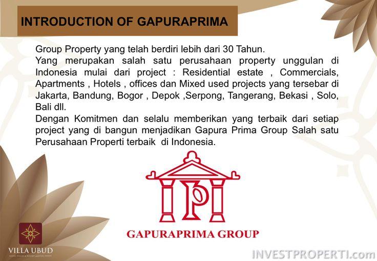 GapuraPrima Group developer Villa Ubud Anyer