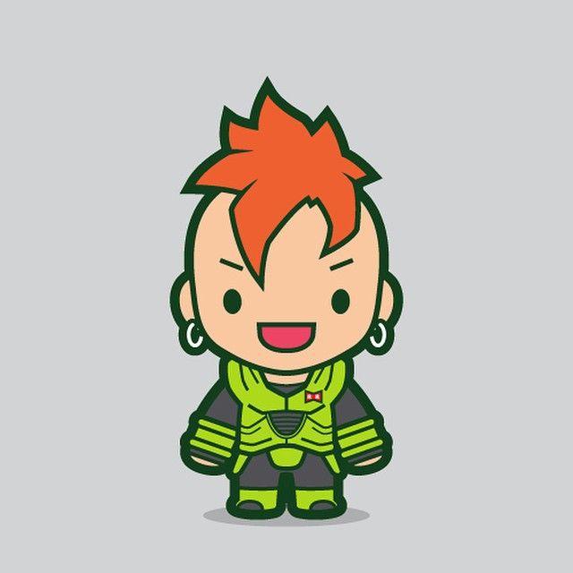 Sixteen. #android16 #android #cyborg #redribbon #dragonball #dbz #manga #anime #cute #chibi #fanart - mvnchk