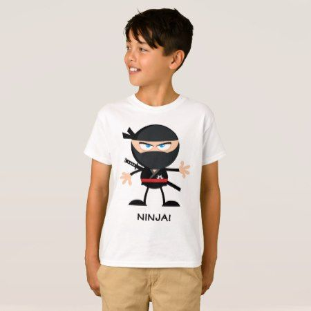 Ninja Warrior Cartoon T-Shirt - click/tap to personalize and buy
