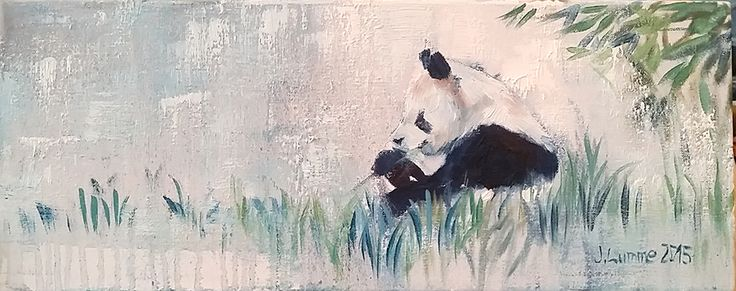 Panda's day II, 20x50, oil on canvas, 2016. AVAILABLE