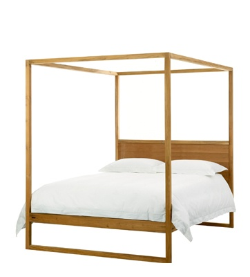 Ibiza four poster bed - Weylandts. Give your room a luxurious fairytale look with the Ibiza Four Poster Bed. Made from carefully selected Plantation Teak, which is left unfinished for a bold, raw look.