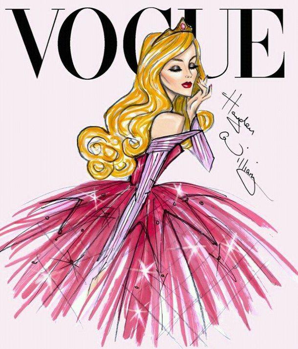 Аврора, дисней, мода, принцесса, vogue