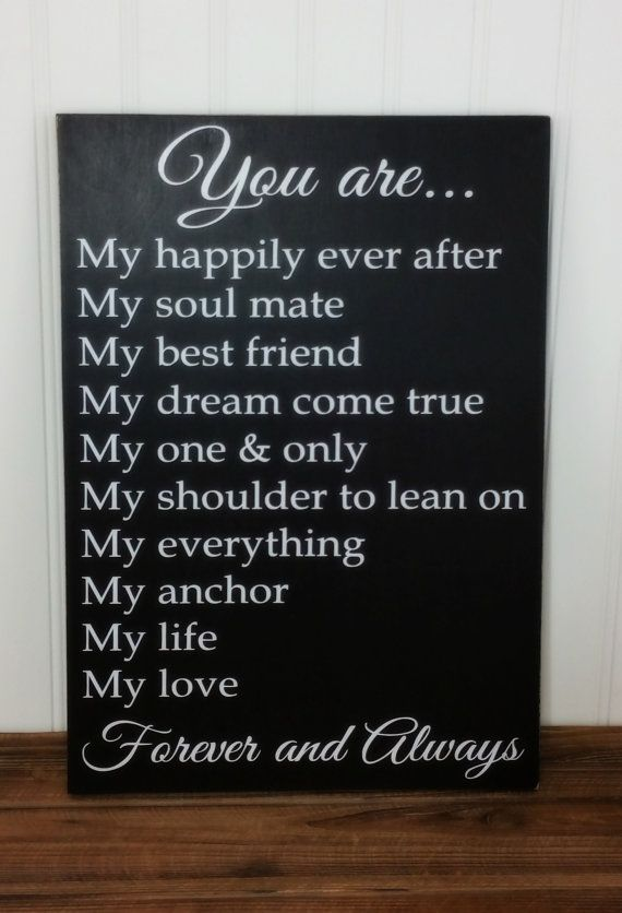 ❘❘❙❙❚❚ ON SALE ❚❚❙❙❘❘   Anniversary - Birthday - Wedding - Christmas Gift for Him or Her - You are my... Rustic Wood Sign with Vinyl Letters! Can be