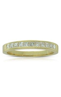 18ct yellow gold .50ct princess cut diamond band from Walker and Hall Jeweller - Walker & Hall
