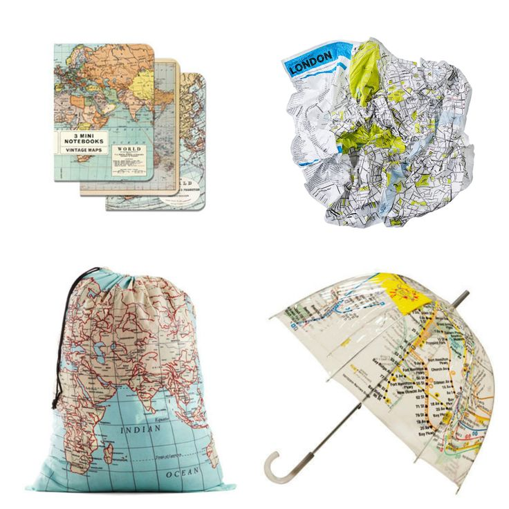 Gift guide for the map-lovers in your life. Gift ideas for everyone from the fashionista to the teetotaller to the bookworm.