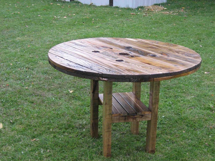 10 best large wooden spool ideas images on pinterest for Large wooden spools used for tables
