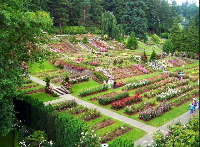 Entrance To Portland Rose Gardens : Portland rose gardens places to visit oregon
